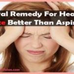 Natural remedy for headache, twice better than aspirin
