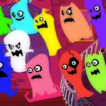 Twelve Little Ghosts | Scary  Nursery Rhymes | Video For Children And Babies