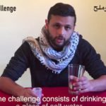 Palestinians highlight prisoners' strike with 'Salt Water Challenge'